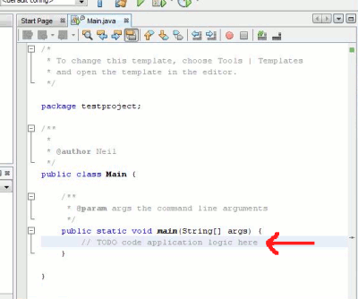 Getting started with Java in NetBeans: adding your first line of